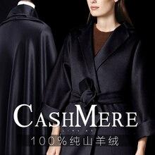 Puro preto Tibetano 100% cashmere tecido de luxo tecido de cashmere puro cashmere casaco de pano de lã tecido de alta qualidade por atacado