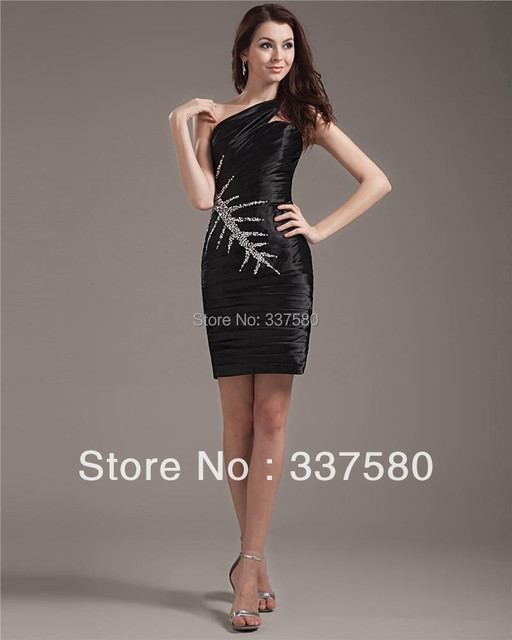 d42fc2b6988 2013 Sample Design Black Mini Curvy Girl s Dress with Beadworks Cocktail  Dresses Party Gowns