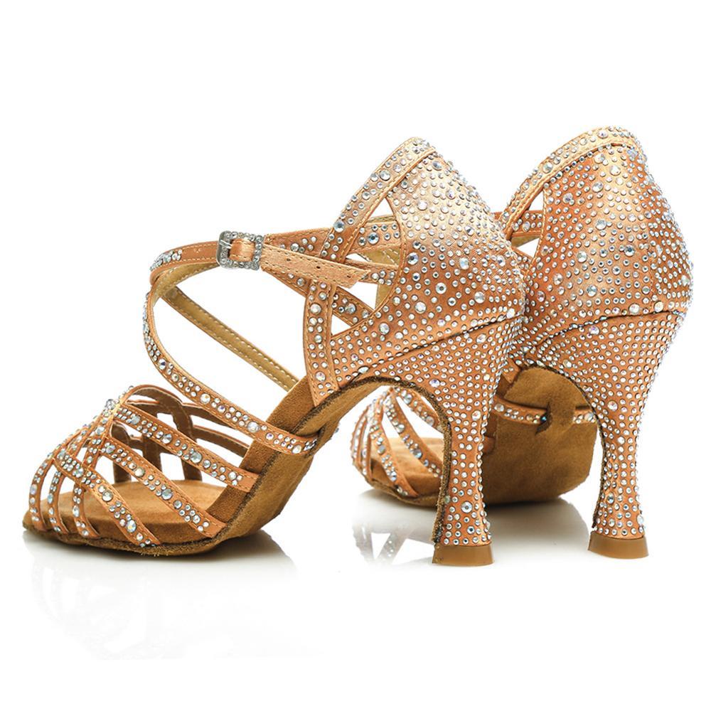Chaussures de danse latine de salon strass Tango Salsa nouveaux arrivants en gros femmes/filles/dames talons minces danse professionnelle - 2