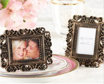 10pcs Mini Retro Baroque Photo Frame For Wedding Baby Shower Party Birthday Favor Gift Souvenirs Souvenir