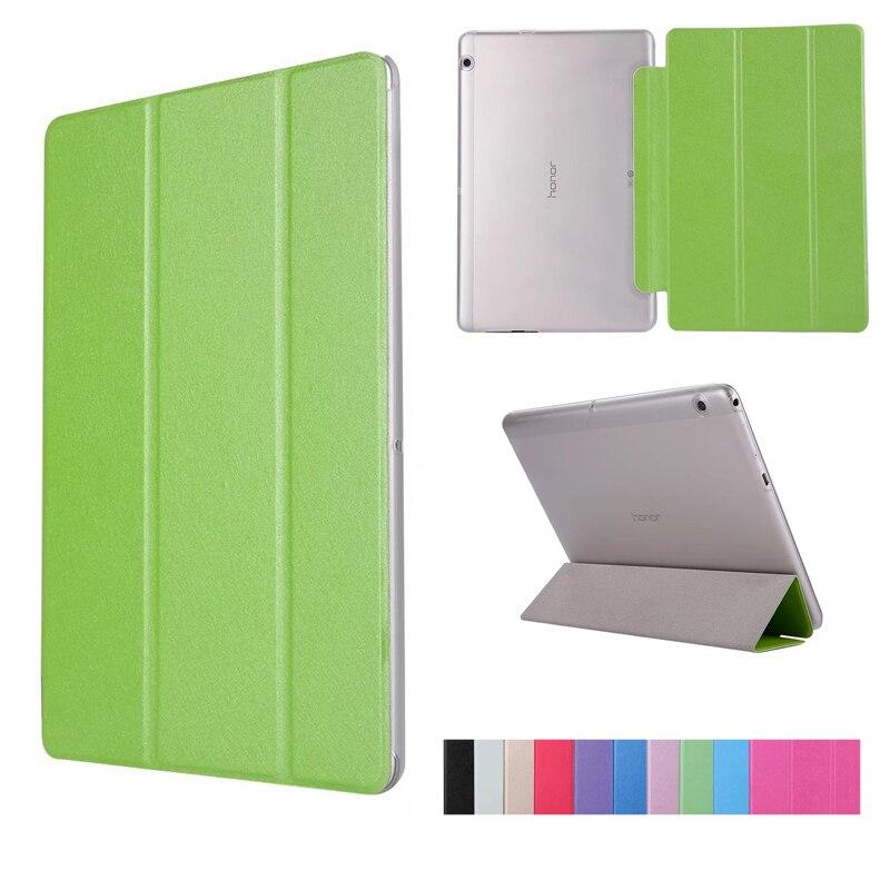 PU Cuir Flip Stand Fold De Protection Shell Cas pour Huawei MediaPad T3 10 9.6 pouces AGS-L09 AGS-L03 9.6 Pouce Tablet couverture