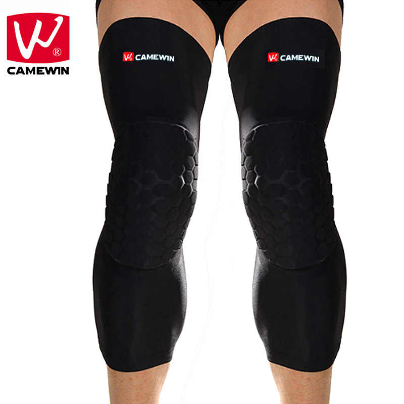 ee19a46d78 CAMEWIN Brand 1 Pair Basketball Knee Protector Silicone non-slip Knee Pads  High Elastic Breathable