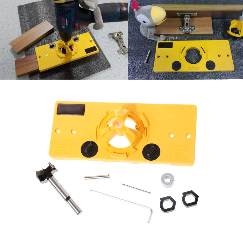 Ootdty 35mm cup style hinge boring jig drill guide set for Boring but big template