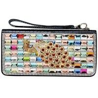 Wallet Women Luxury Diamond Gold Silver Clutch Purse Crystal Women Wallets Shiny Evening Bag Leather Wallet