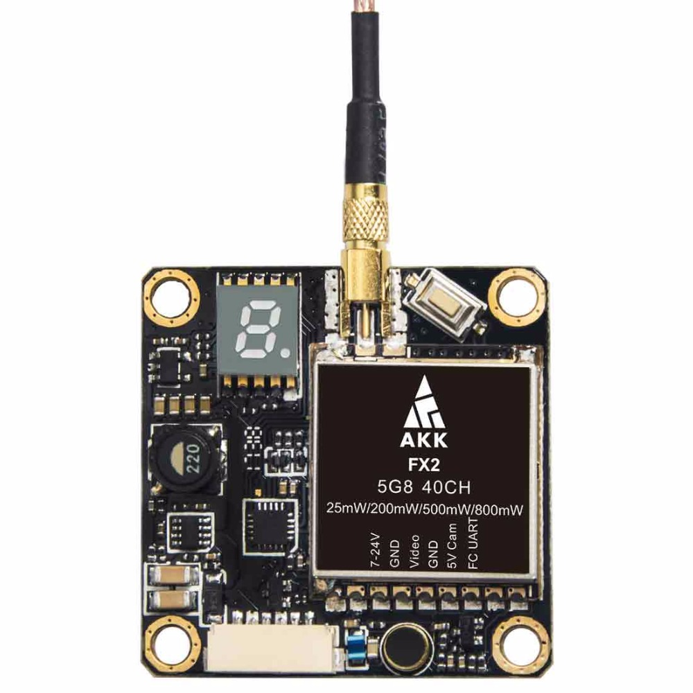 Image 2 - AKK FX2 5.8GHz 0.01/25/200/500/800mW 40CH Switchable FPV Transmitter with UART Support OSD Configuring via Betaflight Fligh-in Parts & Accessories from Toys & Hobbies