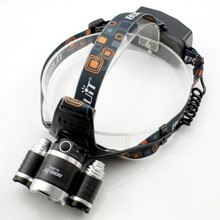 YUPARD 3x CREE XM-L2 T6 LED Rechargeable bright power Headlamp Head lamp 4 Mode for bike light outdoor Lighting USB Power bank
