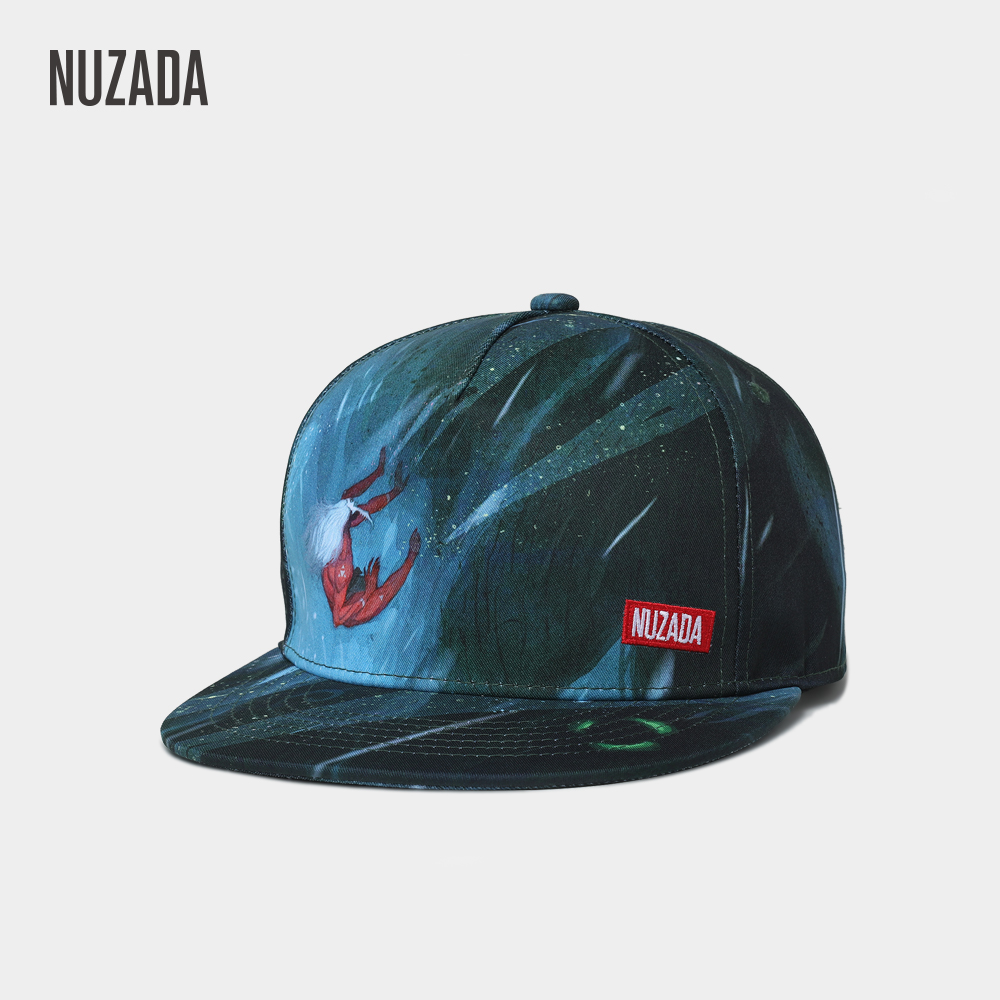 NUZADA Printing Men Women Couple Hip Hop Cap Quality Internal Double Layer Embroidery Brand Letter LOGO