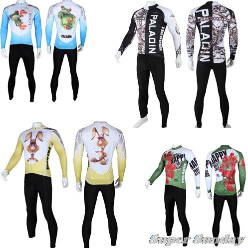 Spring Autumn Cycling Jerseys Outdoor Cycling Clothings Long Sleeve Bike Jerseys  Winter Fleece Riding Jersey Gel Free Shipping ckahsbi winter long sleeve men uv protect cycling jerseys suit mountain bike quick dry breathable riding pants new clothing sets