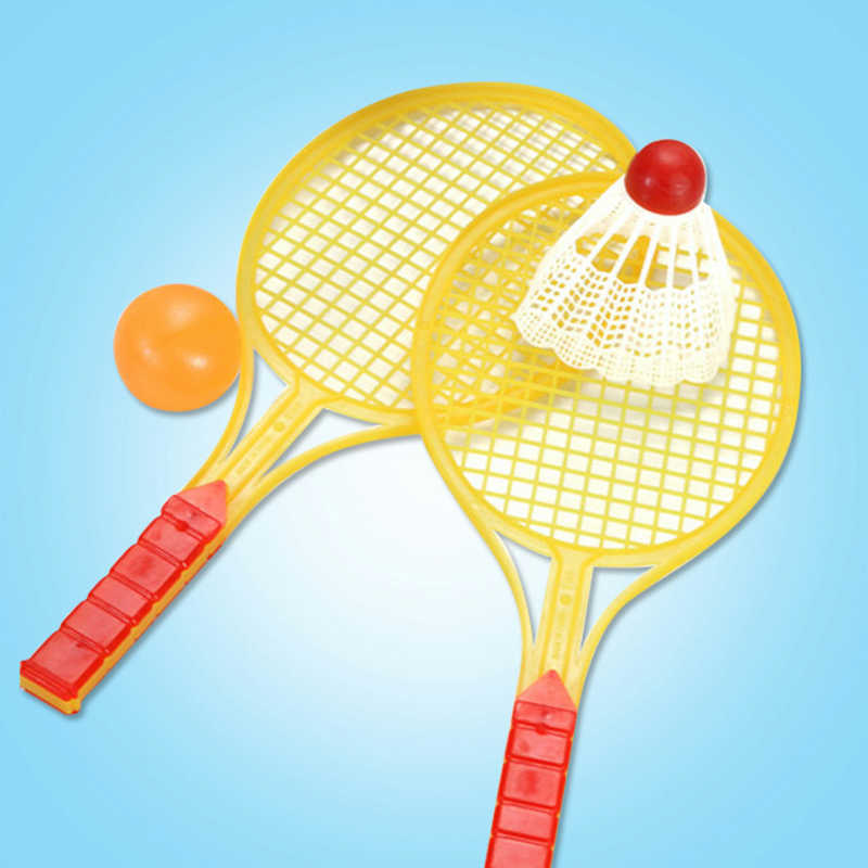 Novelty Child Outdoor Sports Badminton Tennis set Racket Badminton Bat Baby Sports Parent-Child Sports Bed Toy Educational Toys