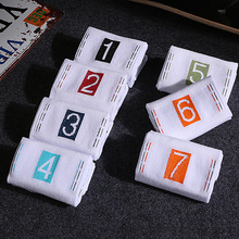 7 Pairs Summer Cotton Breathable Style MenS Womens Socks Days of The Week Ankle  Men Gifts