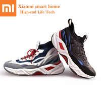 מקורי Xiaomi FREETIE אופנה גברים נשים נעלי עף ארוג עור תפרים עליון לנשימה גרבי עיצוב EVA גומי סניקרס