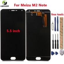 Для Meizu M2 Примечание ЖК-дисплей Дисплей + сенсорный экран с инструментами Стекло Панель аксессуары телефон замена дигитайзер для Meizu M2 Примечание 4G