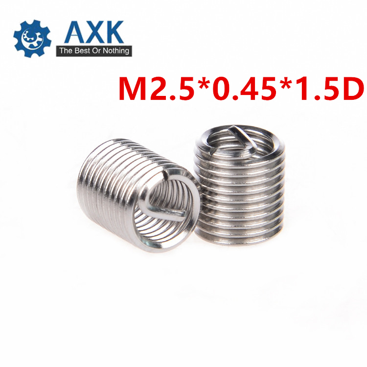 10pcs M8 x 1.25 2.5D Length Helicoil Screw Thread Inserts Repair Stainless Steel