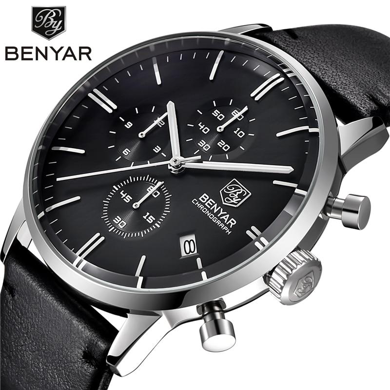 BENYAR Fashion Chronograph Sport Mens Watches Top Brand Luxury Quartz Watch Waterproof Clock Male Hour Relogio Masculino