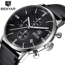 BENYAR montre à Quartz pour hommes, chronographe Sport, marque de luxe, horloge étanche