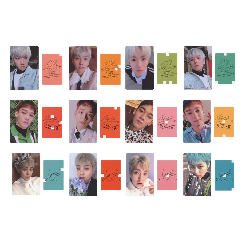 Youpop KPOP EXO CBX MINI 2th Blooming Days Album Photo Card Hip Hop Self Made Paper Cards Autograph Photocard XK537