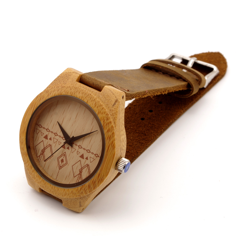BOBO BIRD Japanese miyota 2035 movement Wooden watches Women genuine leather strap watches for men and