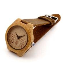БОБО ПТИЦА Японский miyota 2035 движения Деревянные часы Женщины кожаный ремешок часы для мужчин и женщин подарки к рождеству