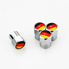 4pcs German Flag Car Wheel Valve Caps Tire Accessories for Audi A1 A3 A4 A5 A6 A7 Q3 Q5 Q7 RS3 RS5 Volkswagen Polo Golf BMW X1(China)