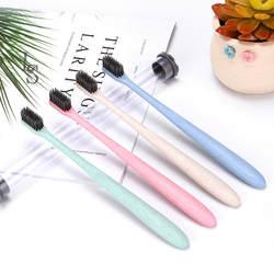 Единая упаковка бамбуковый уголь мягкие волосы зубная щетка с защищенной пылезащитной крышкой ведро домашний минималистский стиль зубная