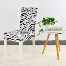 Chair-Cover Seat-Protector Stretch Printing Dining-Room Home-Decor 1-Pc Zebra-Pattern