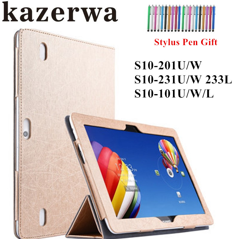 Case For Huawei MediaPad 10 Fhd Case PU leather Cover Tablet Case Cover for Huawei Mediapad 10 Link Tablet Funda Case + Stylus tablet case for huawei mediapad t1 10 lte case cover couqe hulle funda shell custodie
