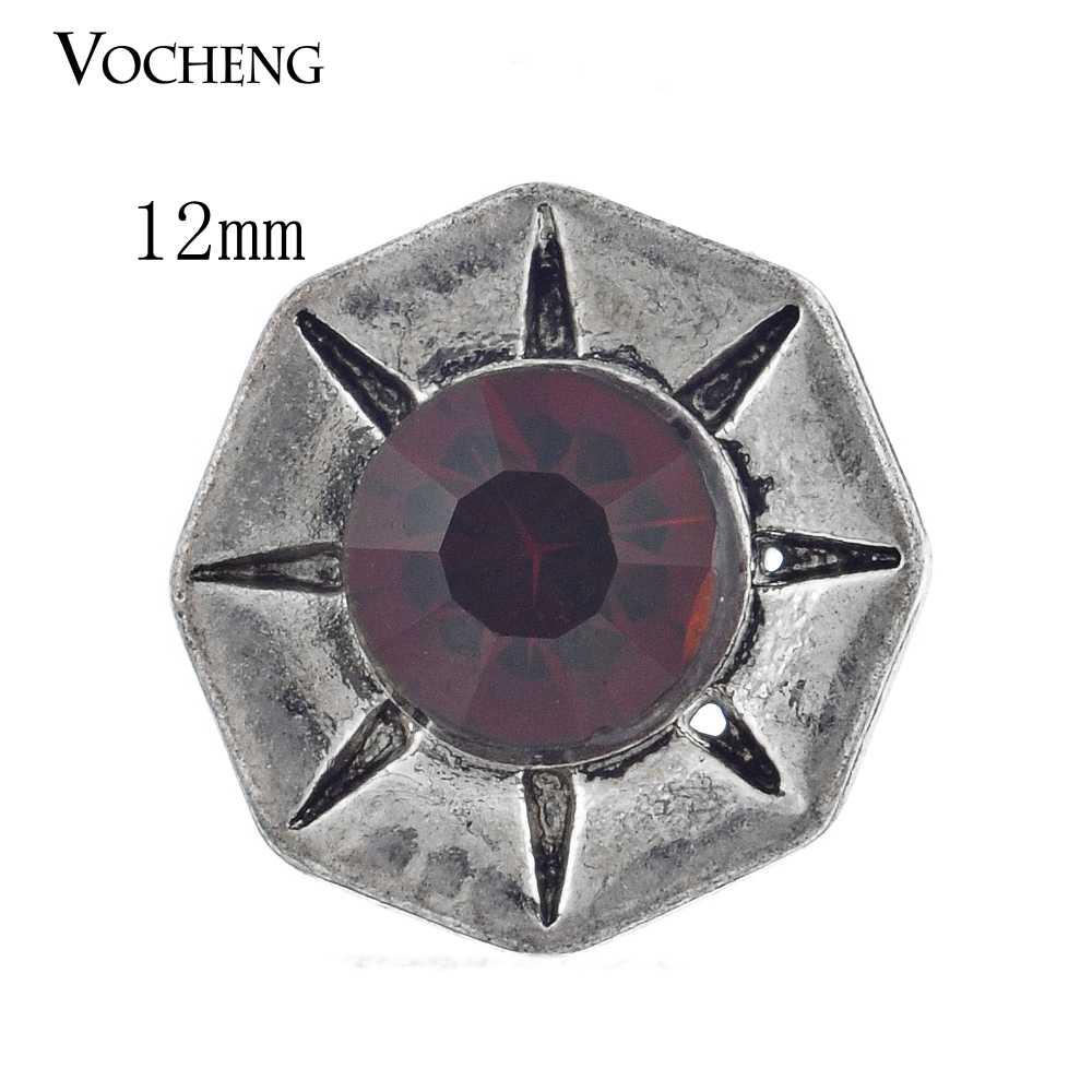 Vocheng Snap Charms małe 12mm wymienne 4 kolory kryształ Vn-488