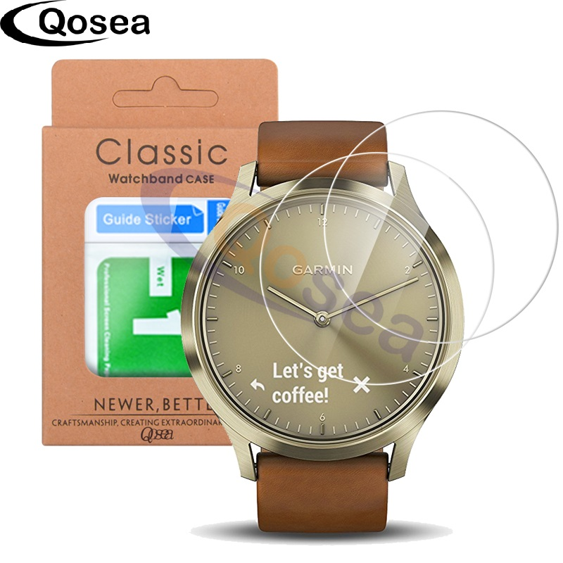 Qosea (2 PACK) For Garmin Vivomove HR Screen Protector Ultra Clear ...