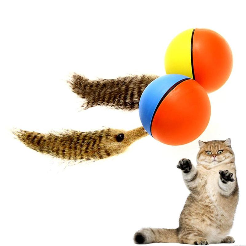 XIAXIANG 1PC Cat Toy Pet Dog Toys Electric Elf Mouse Plush Beaver Ball Funny Mouse Ball Funny Toys Ball Outdoor Fun Sports #A05