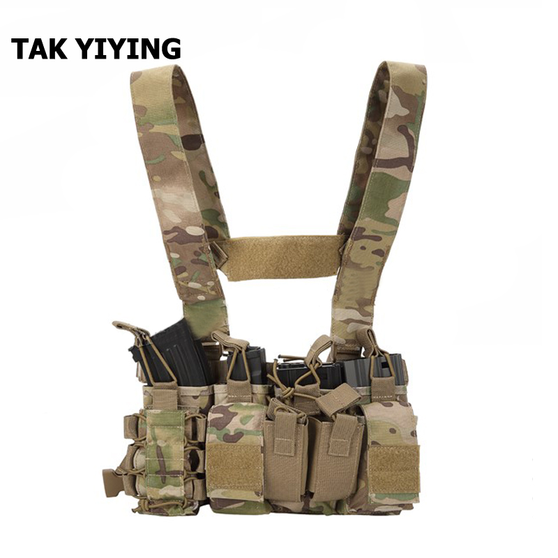 TAK YIYING Tactical MOLLE Triple Open-Top Mag Pouch FAST AK AR M4 FAMAS Mag Pouch With shaped Suspender Shoulder Strap open shoulder ruffle trim botanical top