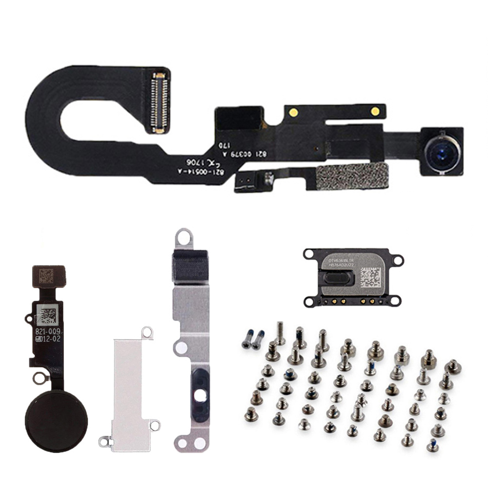 Full Lcd Parts For Iphone 7 7 Plus Front Camera Ear Speaker With Metal Bracket Home Button Key Flex Cable And Full Set Screws