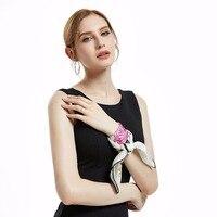 XiuKe Scarves 100 Silk Small Size Lady Neckscarf Fashion Collective Spring Scarves Women Hand Printing