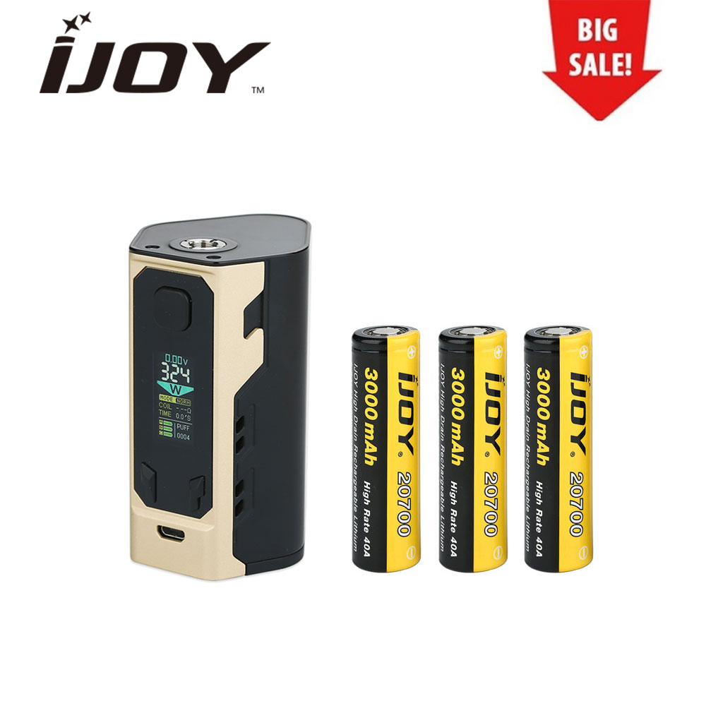Clearance IJOY Captain X3 324W 20700 TC MOD 9000mAh With OLED Color Screen & Three 20700 Battery Electronic Cigarette Vape original ijoy captain x3 324w 20700 tc mod 9000mah 20700 battery huge power electronic cigarette battery mod vs pd1865 mod