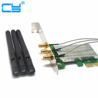 Mini PCI E To PCI E Wireless Adapter W 3 Antenna WiFi For Win 7 Mac