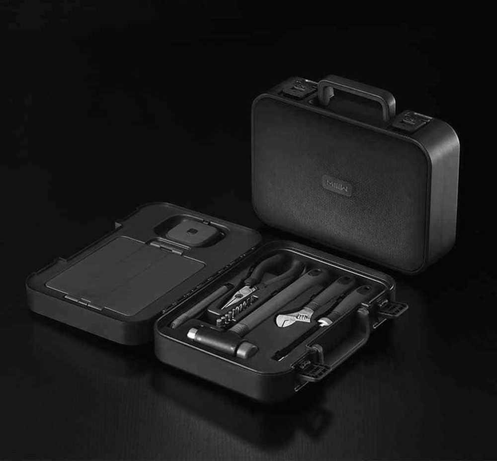 新 Xiaomi Miiiw 16 個 DIY ツールキットの一般的な家庭用ハンドツールドライバーレンチハンマーテーププライヤーナイフツールボックス