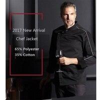 2018 New Restaurant Kitchen Men Woman Long Sleeve Chef Jacket Chef Uniform Work Wear High Fabric Professional Top Cook Uniform