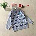 Chegada nova Outono Inverno Crianças Camisolas O-pescoço Do Bebê Camisola Da Menina do Menino crianças blusas Casual para 1-3 anos de bebê