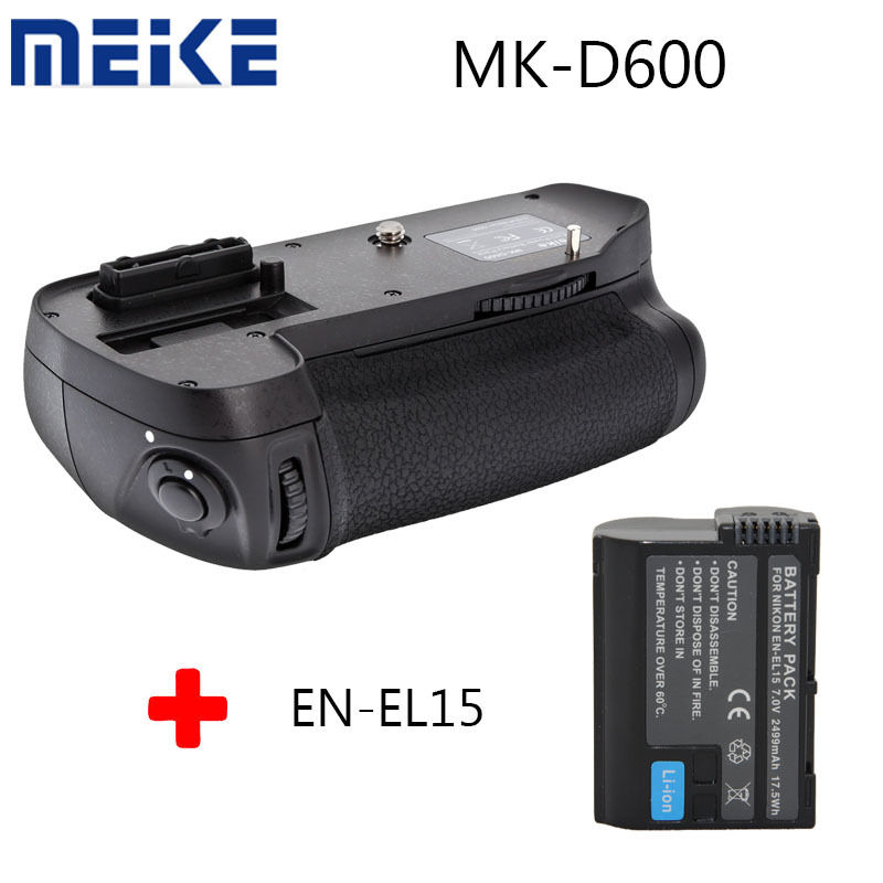 Meike MK-D600 Battery Grip For Nikon D600 D610 DSLR Camera as MB-D14 + EN-EL15 new arrival mb d14 mbd14 d14 battery grip suit for nikon camera d600 d610 en el15 battery holder