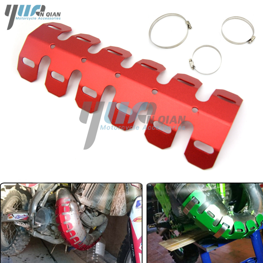 Xc 65 85 105 150 250 300 450 525 Exc Husaberg Meticulous Dyeing Processes Yuanqian Motorcycle Exhaust Muffler Pipe Leg Protector Heat Shield Cover For Sx Motorcycle Accessories & Parts Exhaust & Exhaust Systems