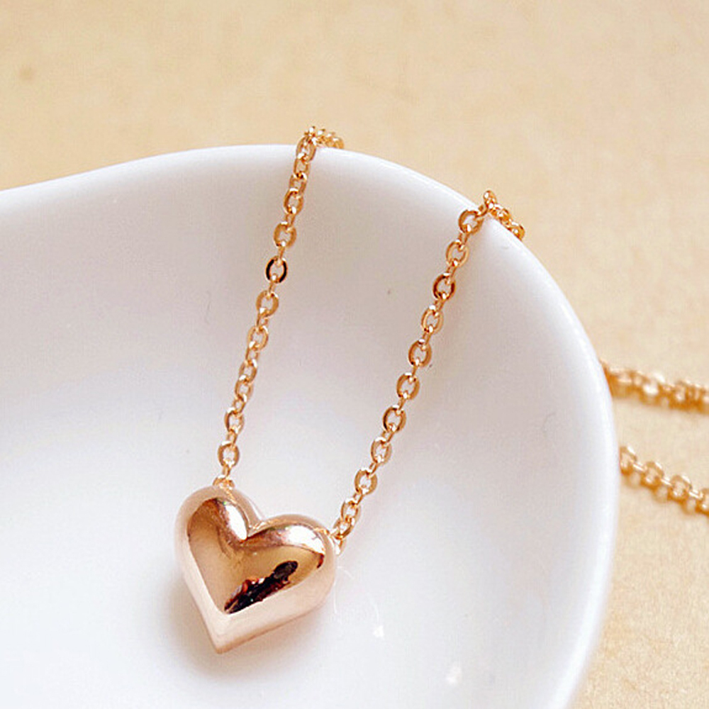 fashion design girl from gift shaped women short gold necklaces simple chains in lovely accessories pendant item jewelry new wholesale heart necklace elegant
