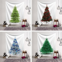 New Christmas Tree Decor Wall Hanging Tapestry Year Room Cloth XMAS Joyous Table Background Blanket Mat Rugs