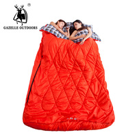 GAZELLE OUTDOORS sleeping bag Double envelope outdoor travel camping longer family large duet sleeping bag couples 2 person