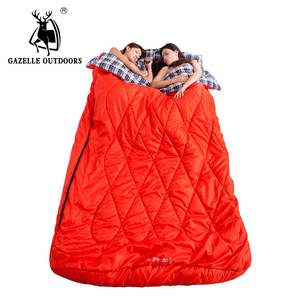f21b92cad GAZELLE OUTDOORS sleeping bag couples 2 person Double envelope outdoor  travel camping
