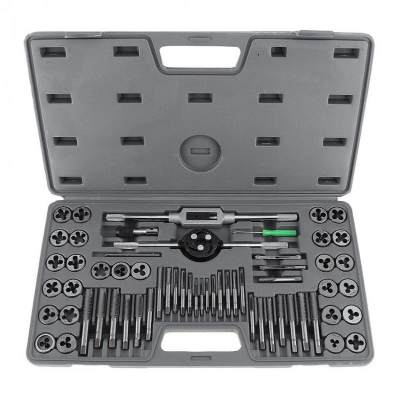 60 Pcs M3 M12 Taps Dies Set For Thread Repair Tools Screwdriver Drill Bits Taps Holder