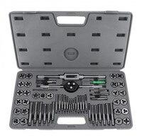60 Pcs M3 M12 Taps Dies Set For Thread Repair Tools Screwdriver Drill Bits Taps Holder Thread Gauge Wrench Set Threading Tool