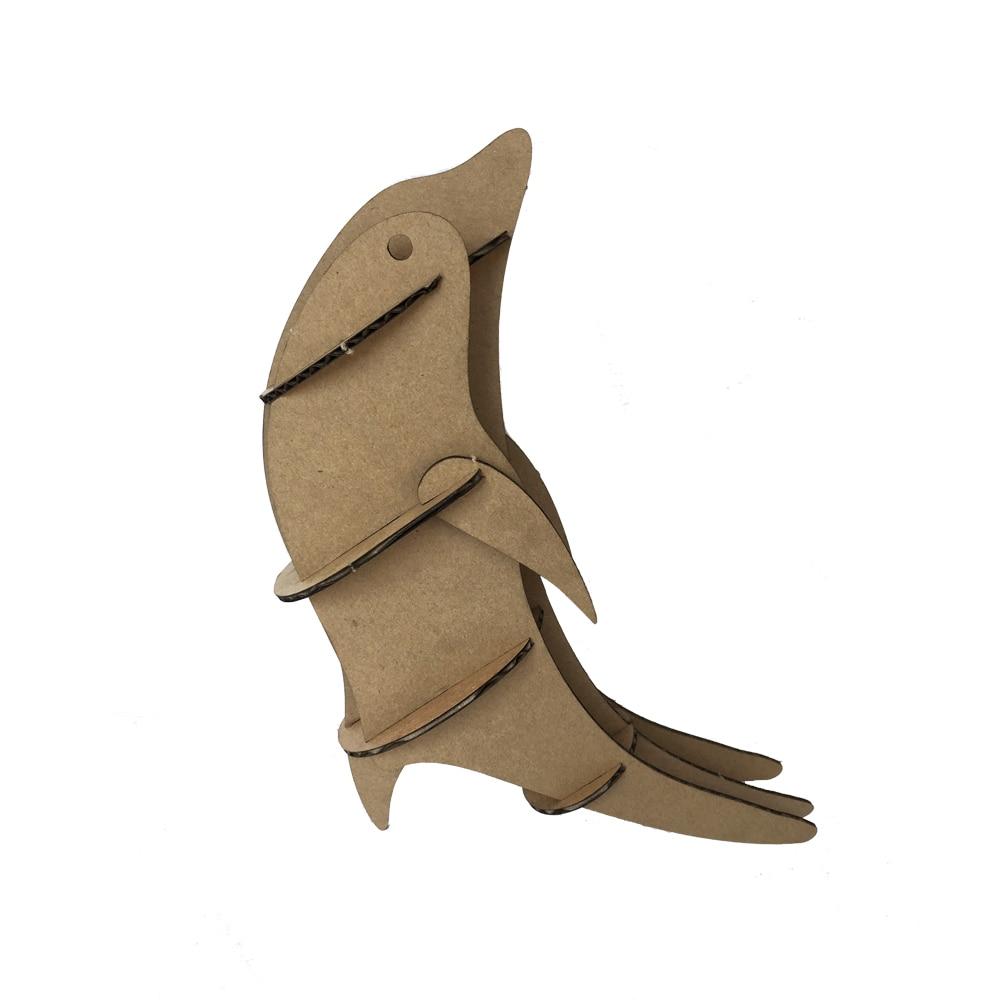 Дельфин 3D головоломки Творческий дом украшения DIY картона интеллектуальные бумажного Kid Игрушка поставка партии детский день подарок