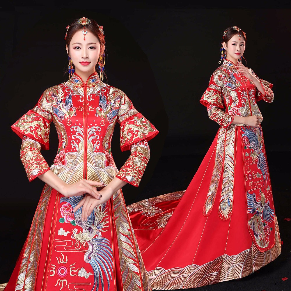 Aliexpress.com : Buy Sumptuous Chinese Style Wedding Dress