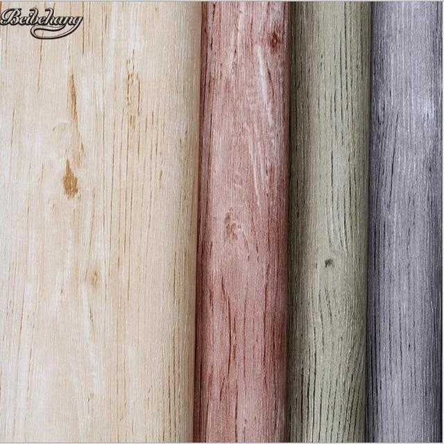 US $27.74 27% OFF Beibehang Holz Tapete Retro Neuen Chinesischen stil holz  pvc bodenbelag muster wohnzimmer schlafzimmer studie gang hintergrund wand  ...