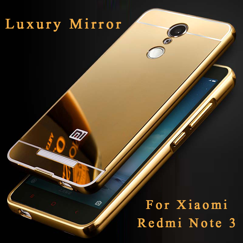 best website 70546 350c7 US $2.56 |HC01 For Xiaomi Redmi Note 3 Pro 5.5 inch case Luxury Mirror  Aluminum Case Metal Slim Acrylic Back Cover For Hongmi Note 3 150mm on ...