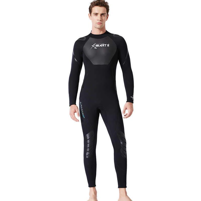 2019 Nieuwe 3mm Lange Mouwen Liefhebbers Mannen Vrouwen Wetsuit Snorkelen Jumpsuit Full Body Dive Nat Pak Een stuk winter Zwemmen Warm Surf